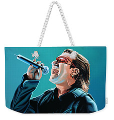 Bono Of U2 Painting Weekender Tote Bag