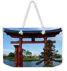 Weekender Tote Bag featuring the photograph Bonsai Pavillion by David Nicholls