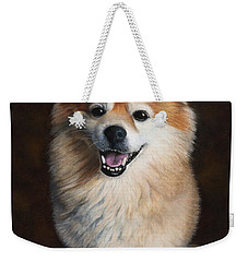 Weekender Tote Bag featuring the painting Boo 2 by Dee Dee  Whittle