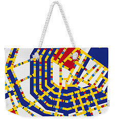 Boogie Woogie Amsterdam Weekender Tote Bag by Chungkong Art
