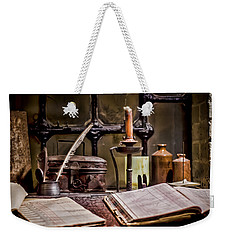 Book Keeper Weekender Tote Bag by Heather Applegate