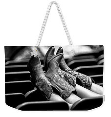 Boots Up - Bw Weekender Tote Bag by Christopher Holmes