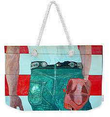 Born In The Usa Urban Garage Door Mural Weekender Tote Bag