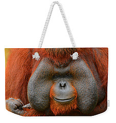 Bornean Orangutan Weekender Tote Bag by Lourry Legarde