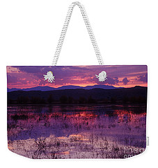 Bosque Sunset - Purple Weekender Tote Bag