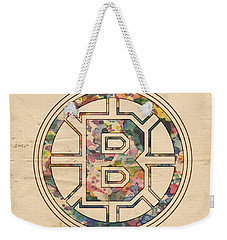 Boston Bruins Poster Art Weekender Tote Bag