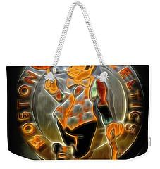 Boston Celtics Logo Weekender Tote Bag by Stephen Stookey
