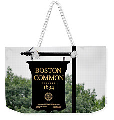 Boston Common Ma Weekender Tote Bag