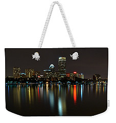 Boston Skyline By Night Weekender Tote Bag