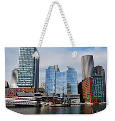 Boston Skyline I Weekender Tote Bag by Barbara Bardzik