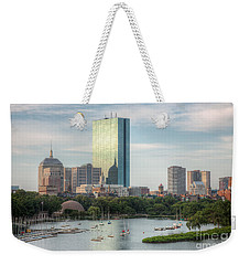 Boston Skyline I Weekender Tote Bag by Clarence Holmes