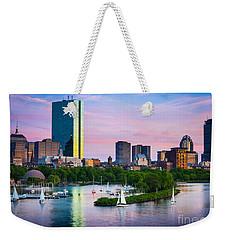 Boston Skyline Weekender Tote Bag