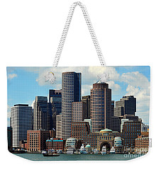 Boston Skyline Weekender Tote Bag by Randi Grace Nilsberg