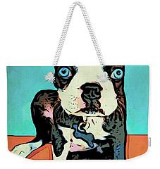 Boston Terrier - Blue Weekender Tote Bag