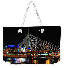 Weekender Tote Bag featuring the photograph Boston's Zakim-bunker Hill Bridge by Mitchell R Grosky