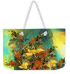 Weekender Tote Bag featuring the digital art Botanical Fantasy 090914 by David Lane