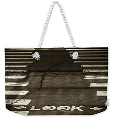 Both Ways - Urban Abstracts Weekender Tote Bag