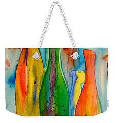 Bottles And Lemons Weekender Tote Bag by Beverley Harper Tinsley