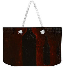 Weekender Tote Bag featuring the painting Bottles by Shawn Marlow