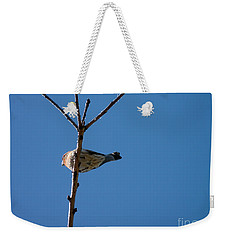 Weekender Tote Bag featuring the photograph Bottoms Up by Meghan at FireBonnet Art