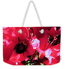Weekender Tote Bag featuring the photograph Bottoms Up by Robyn King