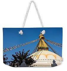 Boudhanath Stupa Weekender Tote Bag
