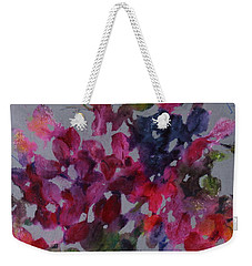 Weekender Tote Bag featuring the painting Bougainvillea by Michelle Abrams