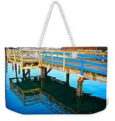 Boulevard Blue Weekender Tote Bag