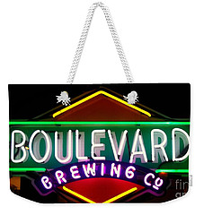 Weekender Tote Bag featuring the photograph Boulevard Brewing by Kelly Awad