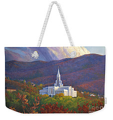 Bountiful Temple In The Mountains Weekender Tote Bag by Rob Corsetti