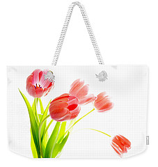 Tulips Flower Bouque In Digital Watercolor Weekender Tote Bag