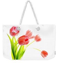Tulips Flower Bouque In Digital Watercolor Weekender Tote Bag