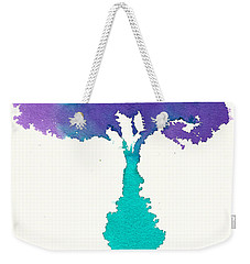 Weekender Tote Bag featuring the painting Bouquet Abstract 2 by Frank Bright