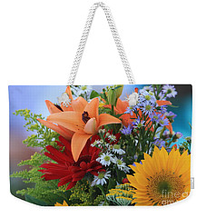 Weekender Tote Bag featuring the photograph Bouquet Of Flowers by Geraldine DeBoer