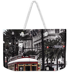 Bourbon And Canal Trolley Cropped Weekender Tote Bag by Tammy Wetzel