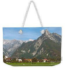 Bovec In Slovenia Weekender Tote Bag