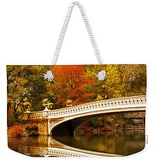Weekender Tote Bag featuring the photograph Bow Bridge Beauty by Jessica Jenney