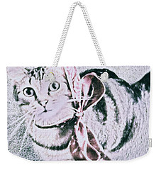 Bow Tie Kitty Weekender Tote Bag by Lisa Brandel