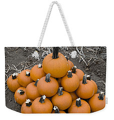 Weekender Tote Bag featuring the photograph Bowling For Pumpkins by David Millenheft