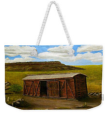 Boxcar On The Plains Weekender Tote Bag by Sheri Keith