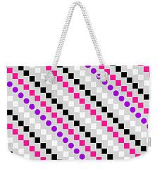 Boxed Stripe Weekender Tote Bag