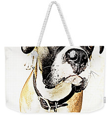 Weekender Tote Bag featuring the photograph Boxer Dog Poster by Peter v Quenter