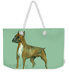 Boxer Weekender Tote Bag by Terry Frederick