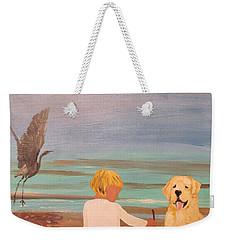 Boy And Dog Weekender Tote Bag