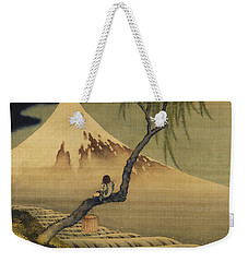 Boy Viewing Mount Fuji Weekender Tote Bag