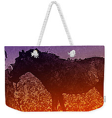 Weekender Tote Bag featuring the digital art Boy With Horse by Cathy Anderson