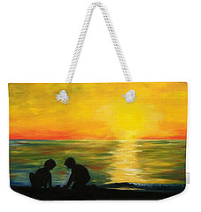 Boys In The Sunset Weekender Tote Bag