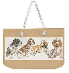 Bracco Italiano Puppies Weekender Tote Bag