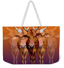 Brahman Cow Weekender Tote Bag