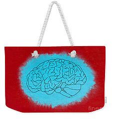 Brain Blue Weekender Tote Bag by Stefanie Forck